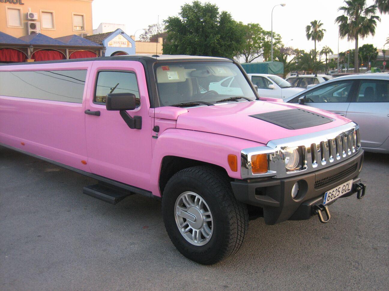 Hummer Rosa 9 Plazas